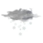 Vector image of weather forecast color symbol for snowy sky