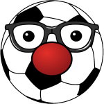 Clown soccer ball vector drawing