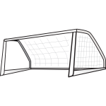 Soccer Goal Post Vector Clip Art