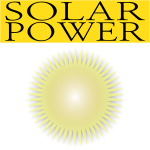 Vector drawing of solar power icon