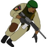 Soldier during battle