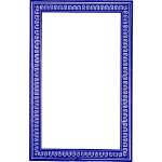 Vector image of solid blue frame