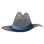 Sombrero with blue ribbon vector image