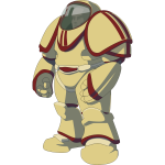 Astronaut in space armor vector image