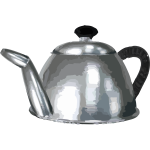 Metal tea pot vector clip art
