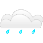 Pastel colored overcloud rain sign vector illustration