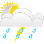 Vector graphics of weather forecast color symbol for ice rain
