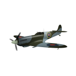 Supermarine Spitfire plane vector illustration