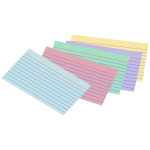 Colored index cards vector image