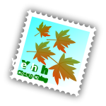 Maple stamp vector image