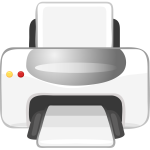 Vector clip art of printer color icon