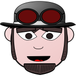 Cartoon character with hat