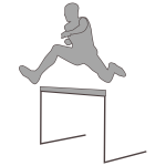 Vector silhouette of an athlete