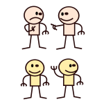 Vector clip art of stick man selection