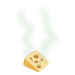 Stinky cheese vector image