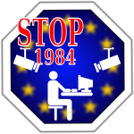 Stop 1984 in Europe vector image
