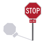 STOP all way US traffic sign vector drawing