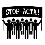 STOP ACTA sign vector illustration