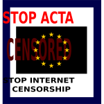 Vector graphics of Stop ACTA sign