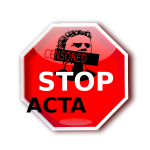 Stop ACTA sign illustration