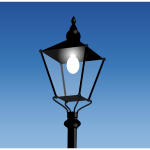 Vector illustration of old style street light