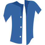 Vector image of unbuttoned summer shirt
