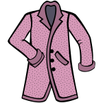 Stylish pink coat