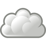 Grey cloud icon vector image