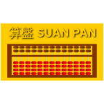 Chinese Suan Pan abacus vector image