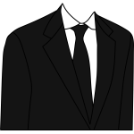Black suit jacket vector illustration