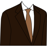 Brown suit jacket vector clip art