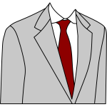 Light grey suit jacket vector image