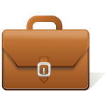 Leather briefcase vector clip art