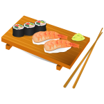 Sushi food vector illustration