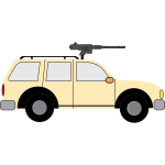 Improvised fighting vehicle vector image