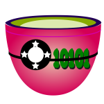 Vector illustration of shades of pink cup