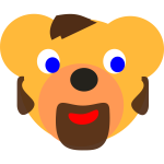 Vector drawing of bear with beard