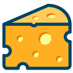 Swiss cheese vector image