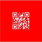 Swiss Flag With QR code vector