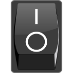 Switch on button vector image