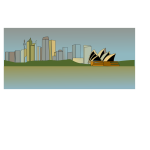 Vector image of Sydney skyline