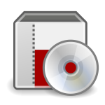 Vector graphics of system installer disc icon