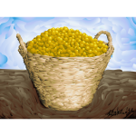 Gage plum basket vector image