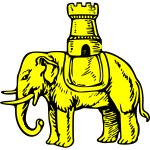 Yellow elephant vector graphics