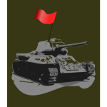 Tank T-34 1931 vector image