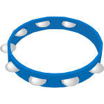 Blue tambourine vector drawing