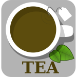 Vector image of tea sign