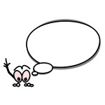 Speech bubble pointing up vector drawing
