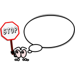Speech bubble showing stop sign vector image
