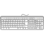 Spanish keyboard vector graphics